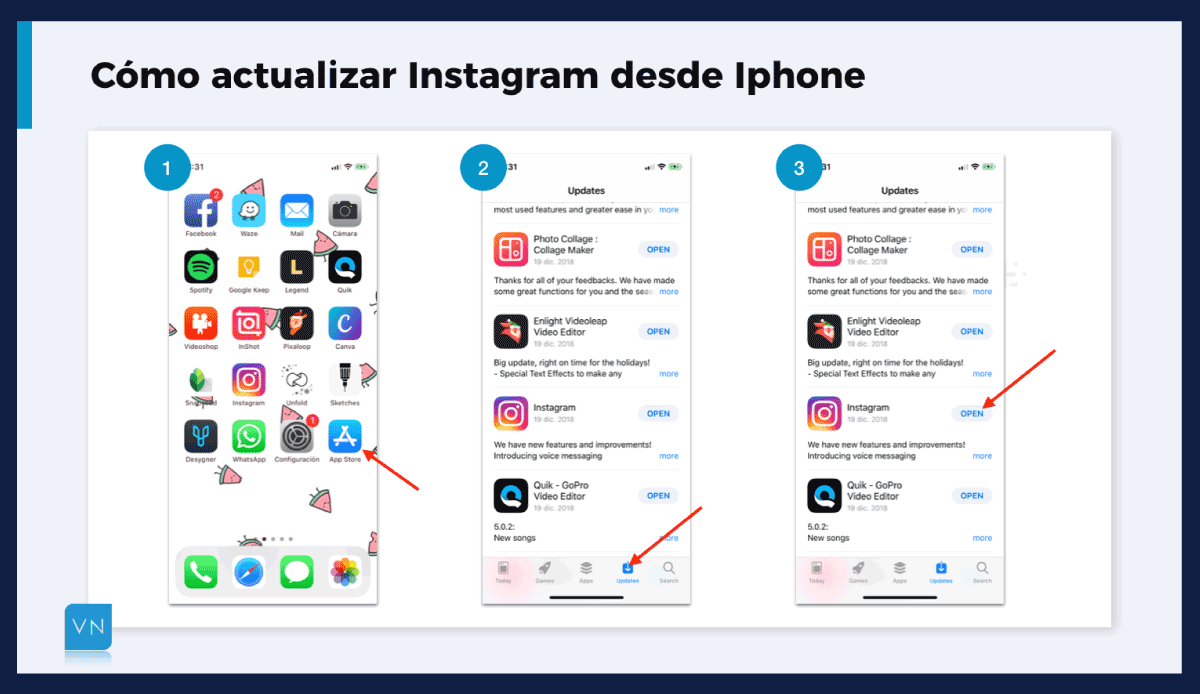 actualizar Instagram