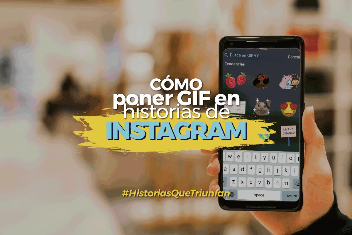 GIF en historias de Instagram