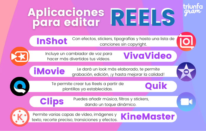 Mejores aplicaciones para editar tus Reels antes de cargarlos